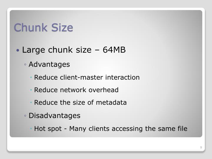 Chunk Size