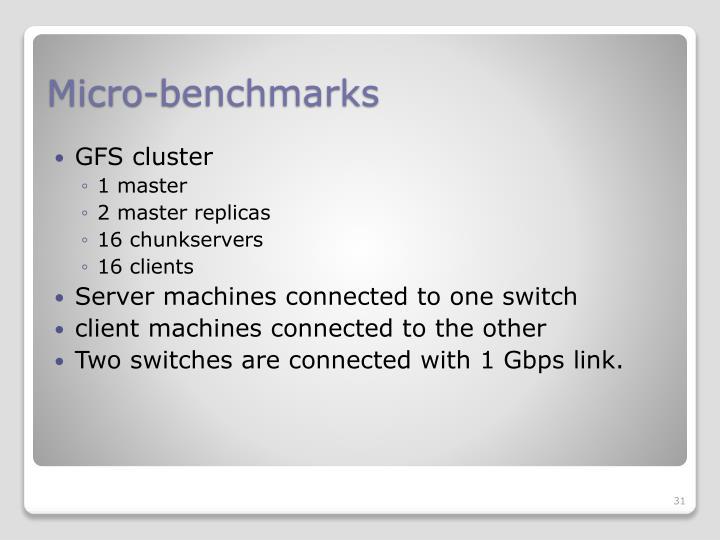 Micro-benchmarks
