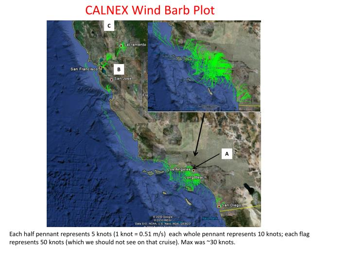 CALNEX Wind Barb Plot