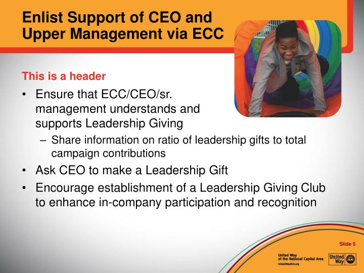 Enlist Support of CEO and