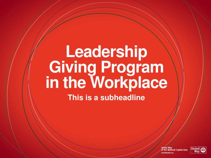 Leadership giving program in the workplace