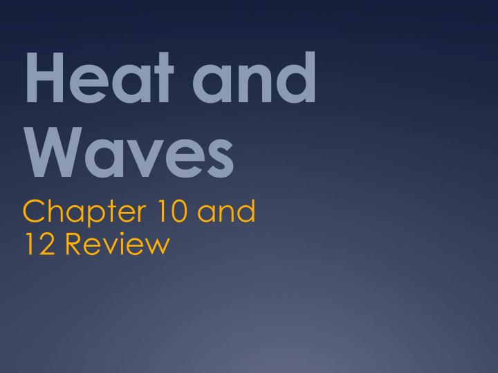 heat and waves n.