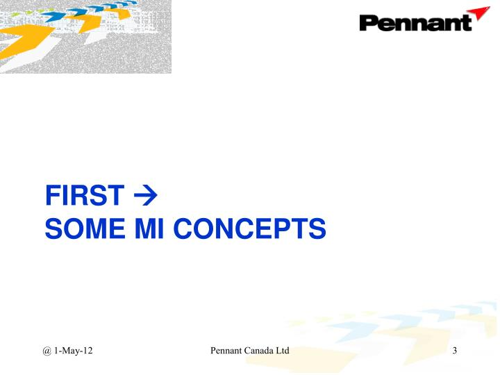 First some mi concepts
