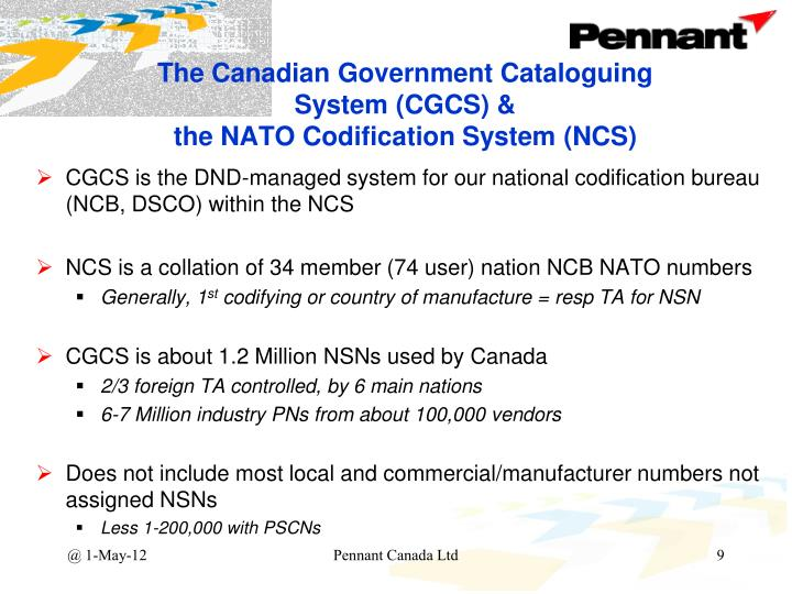 The Canadian Government Cataloguing System (CGCS) &