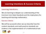 learning intentions success criteria1