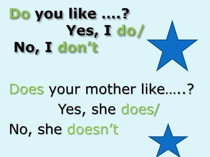Do you like yes i do no i don t
