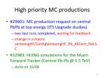 high priority mc productions