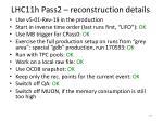 lhc11h pass2 reconstruction details