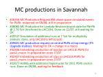mc productions in savannah