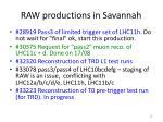 raw productions in savannah