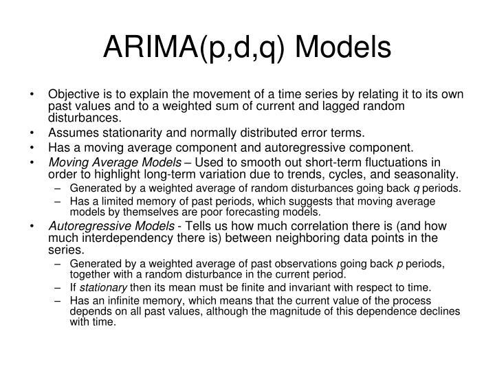 ARIMA(p,d,q) Models