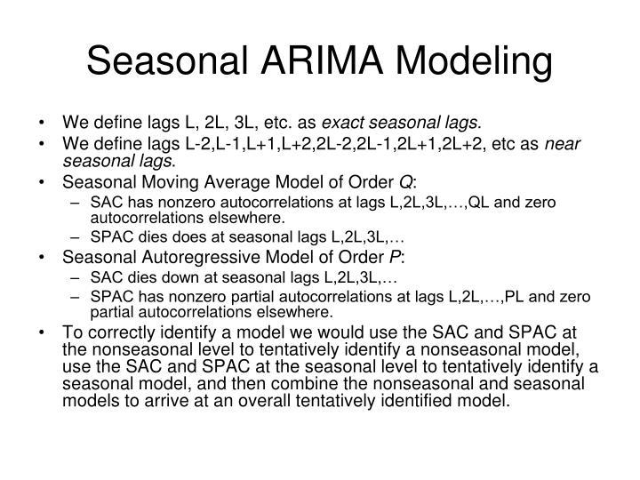 Seasonal ARIMA Modeling