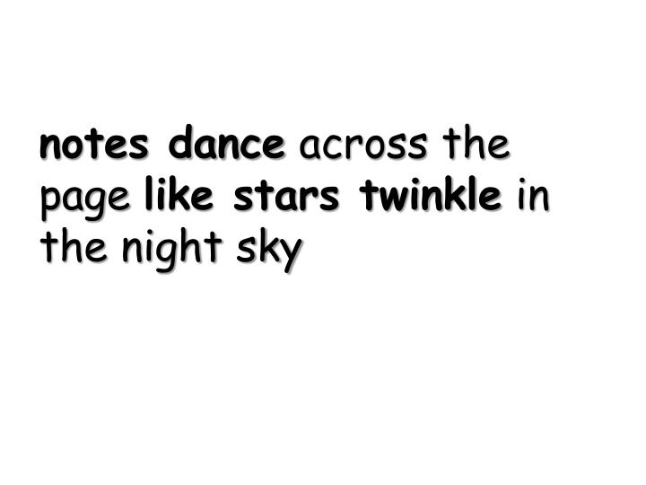 notes dance