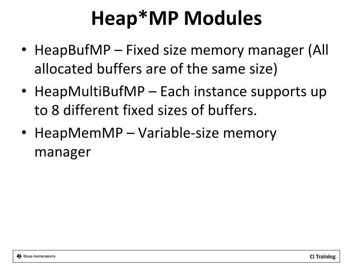 Heap*MP Modules