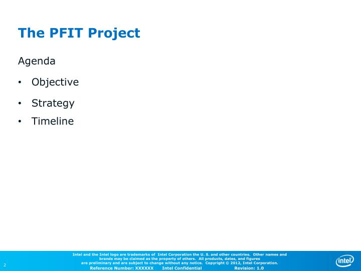 The pfit project