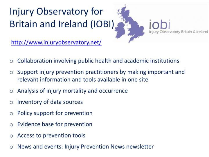 Injury observatory for britain and ireland iobi