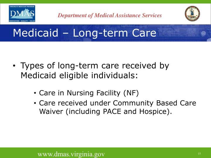 Medicaid – Long-term Care