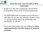 how you can use the acs 5 year estimates1