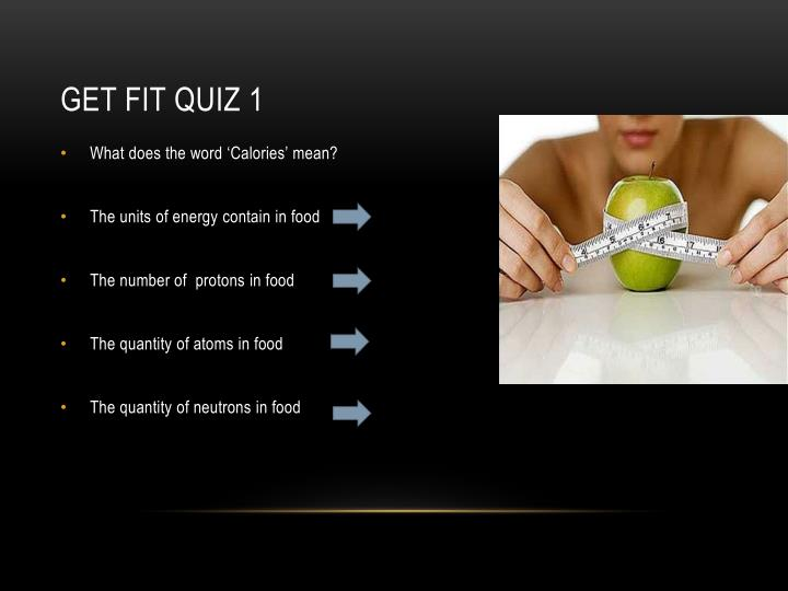 Get fit quiz 1