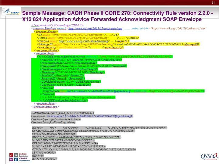 Sample Message: CAQH