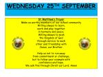 wedn esday 25 th september