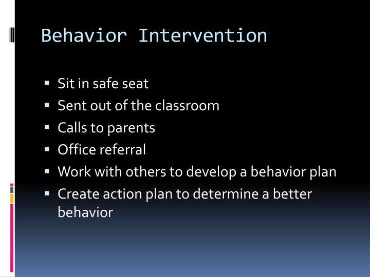 Behavior Intervention
