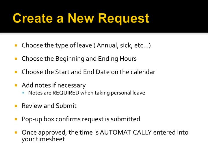 Create a new request