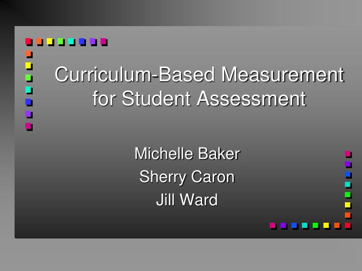 curriculum based measurement for student assessment n.
