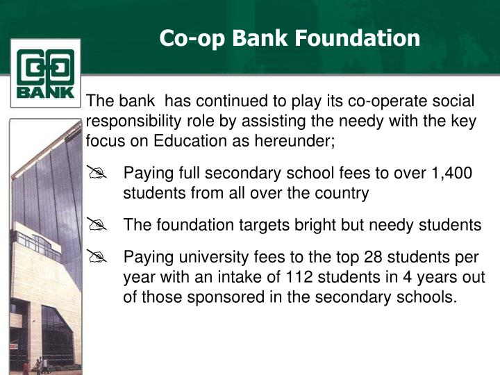 Co-op Bank Foundation