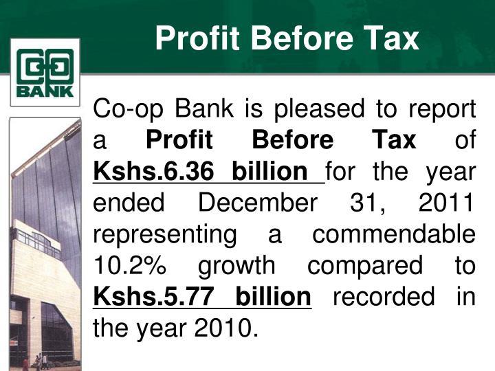 Profit before tax