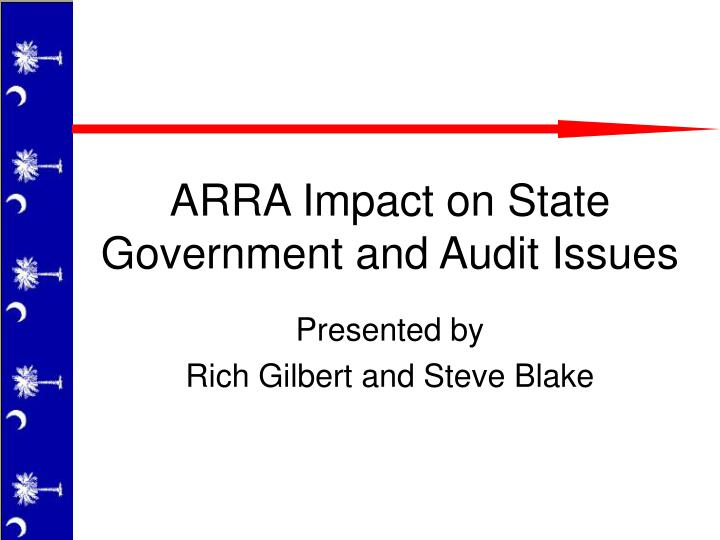 arra impact on state government and audit issues n.