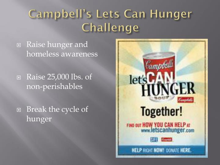 Campbell's Lets Can Hunger Challenge