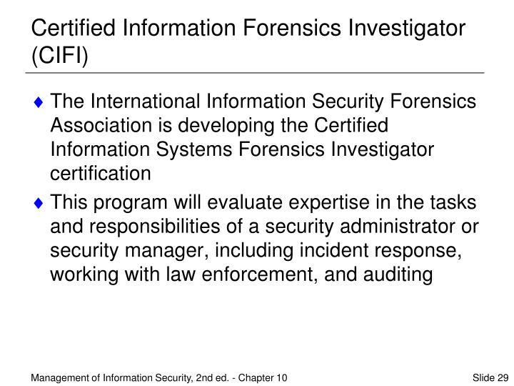 Certified Information Forensics Investigator (CIFI)