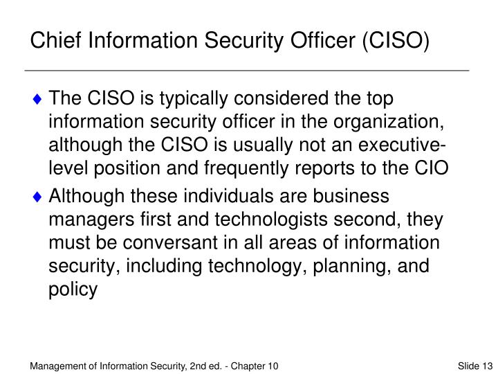 Chief Information Security Officer (CISO)