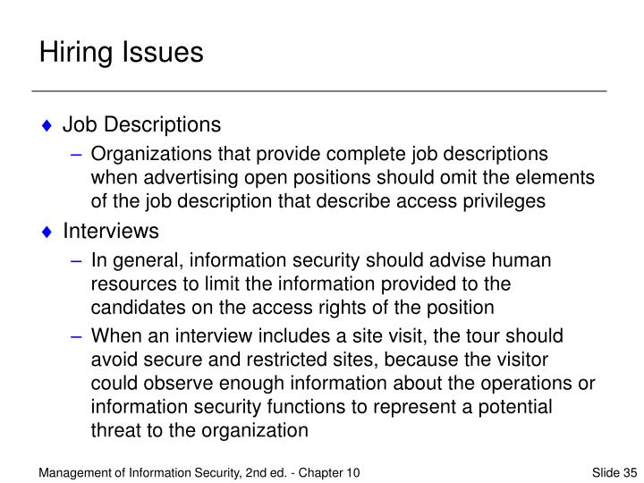 Hiring Issues