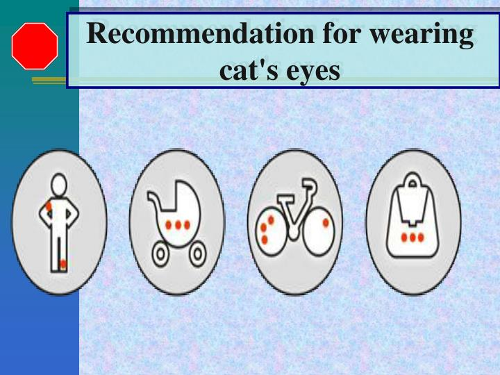 Recommendation for wearing
