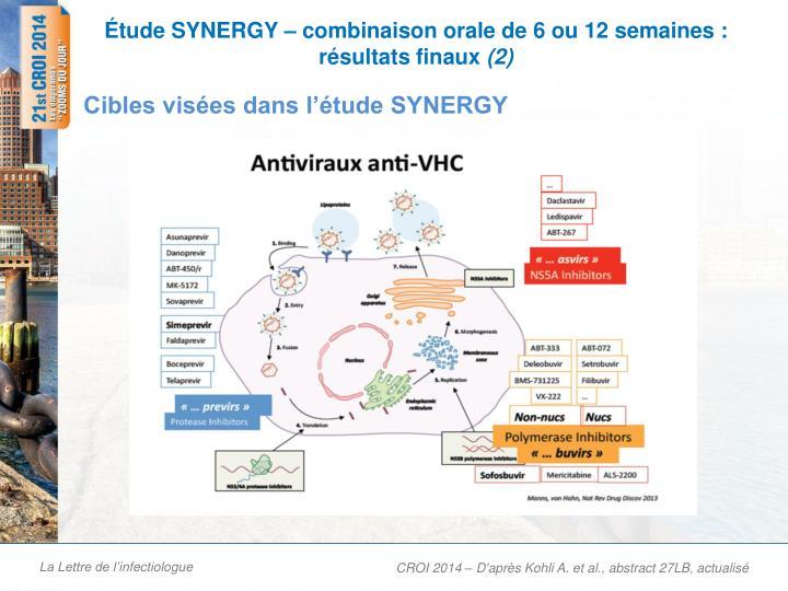 Tude synergy combinaison orale de 6 ou 12 semaines r sultats finaux 2