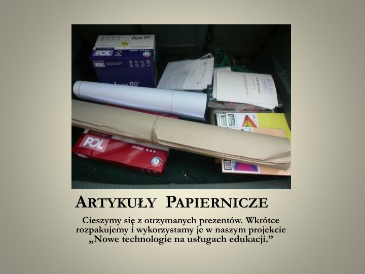 Artykuły  Papiernicze