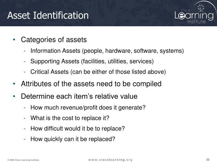 Asset Identification