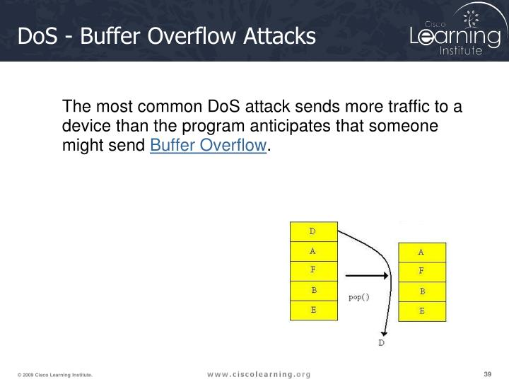 DoS - Buffer Overflow Attacks