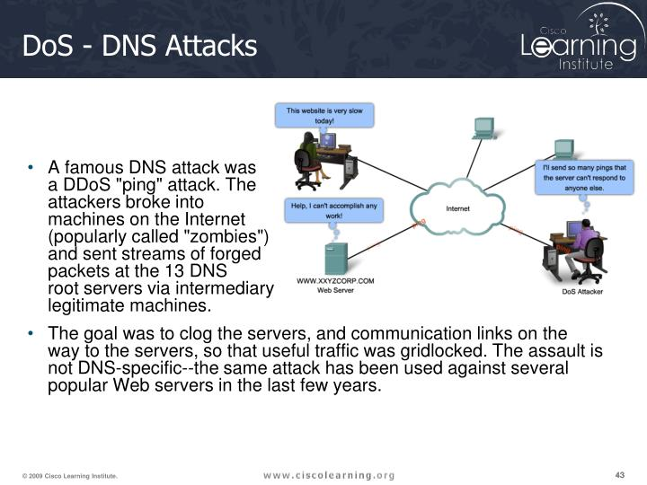 A famous DNS attack was