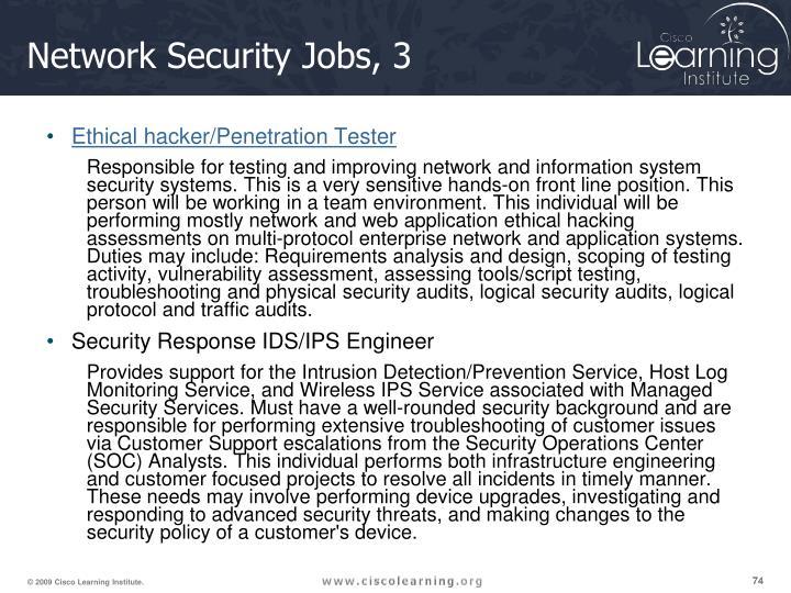 Network Security Jobs, 3