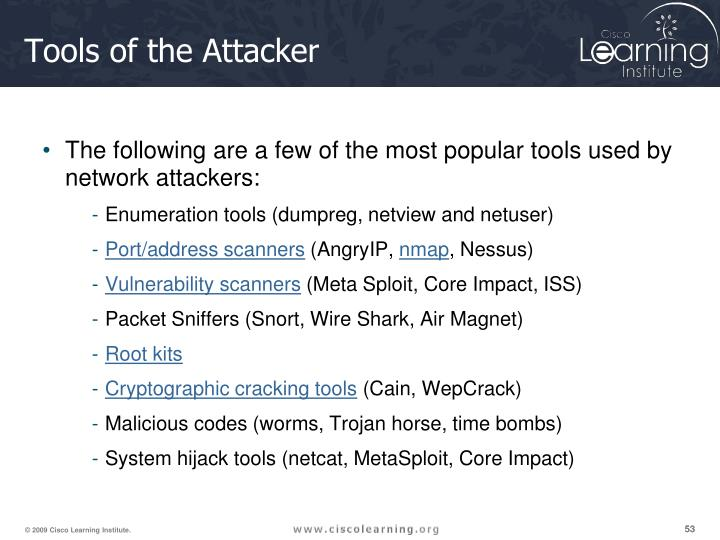 Tools of the Attacker