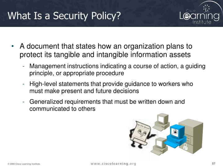 What Is a Security Policy?
