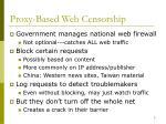 proxy based web censorship