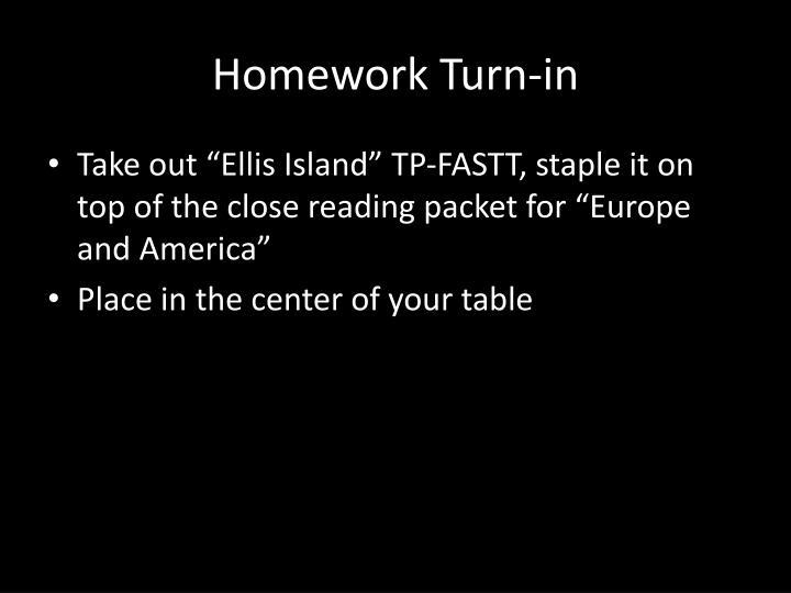 Homework turn in