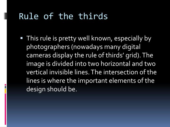 Rule of the thirds