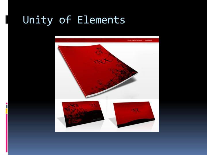 Unity of Elements
