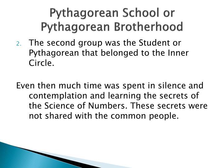 Pythagorean School or Pythagorean Brotherhood