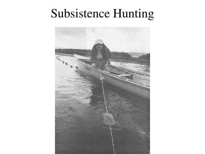Subsistence Hunting